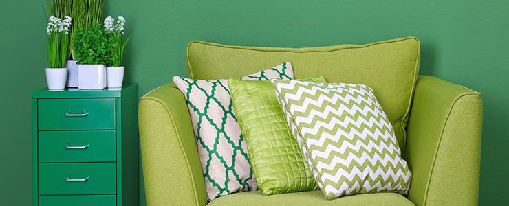 Imóvel decorado na cor do ano: Greenery