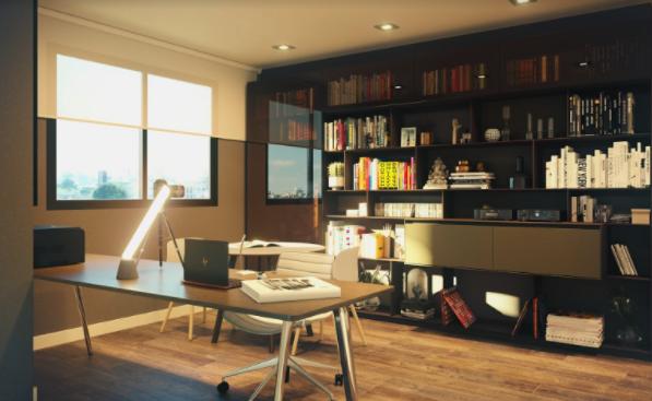 Home-office planejado na sua Cobertura do Terra Gutierrez
